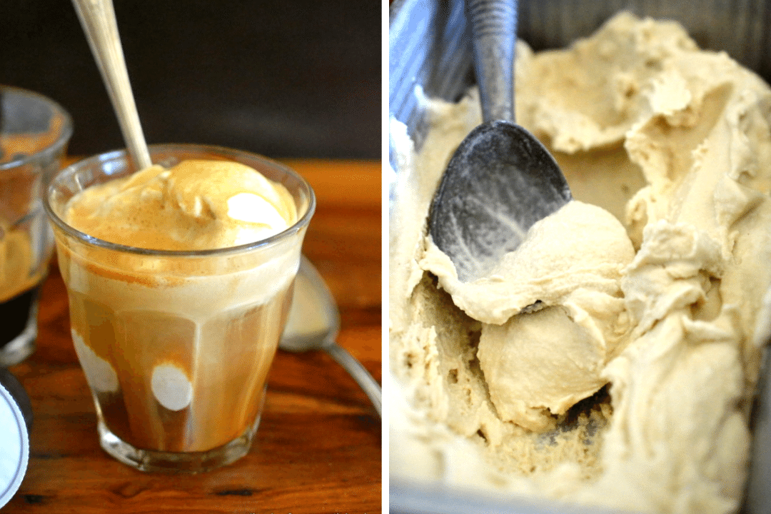 Affogato with cardamom ice cream.