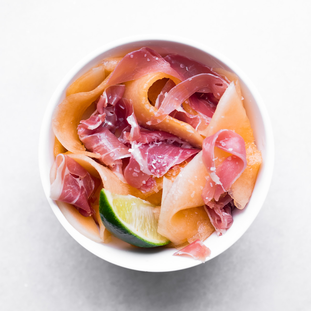 Honey Kiss Melon and prosciutto salad