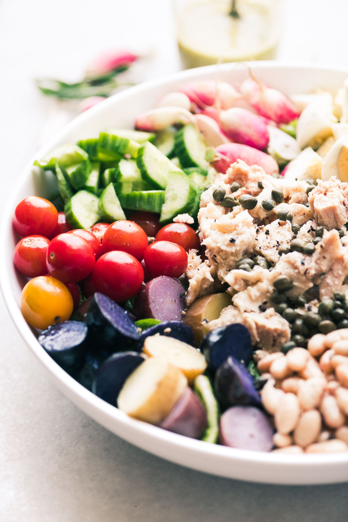 a colorful tossed salad nicoise