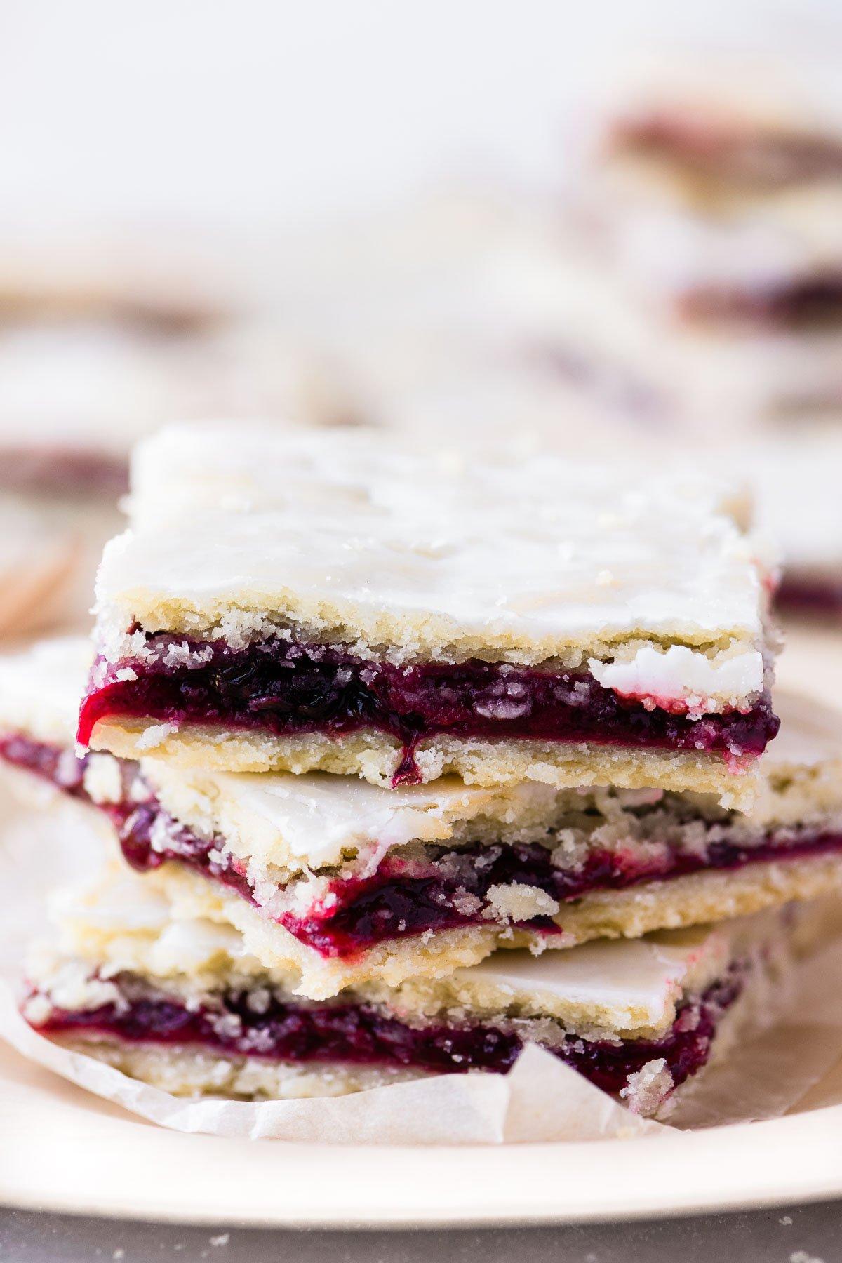 stacked blackberry bars