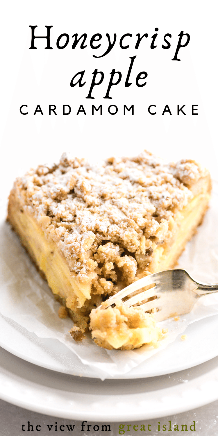 Honeycrisp apple cardamom cake pin