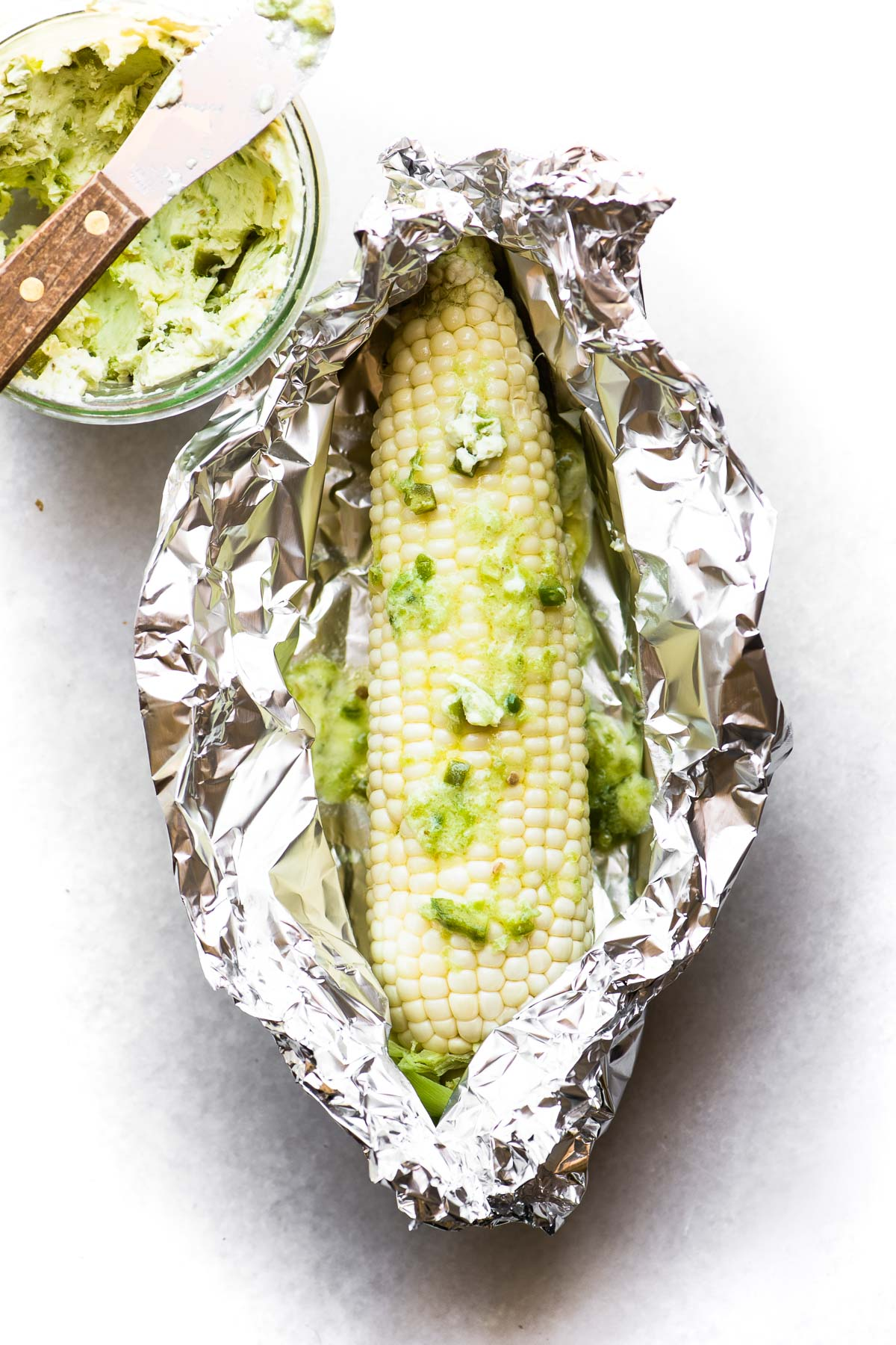 corn on the cob with jalapeño butter