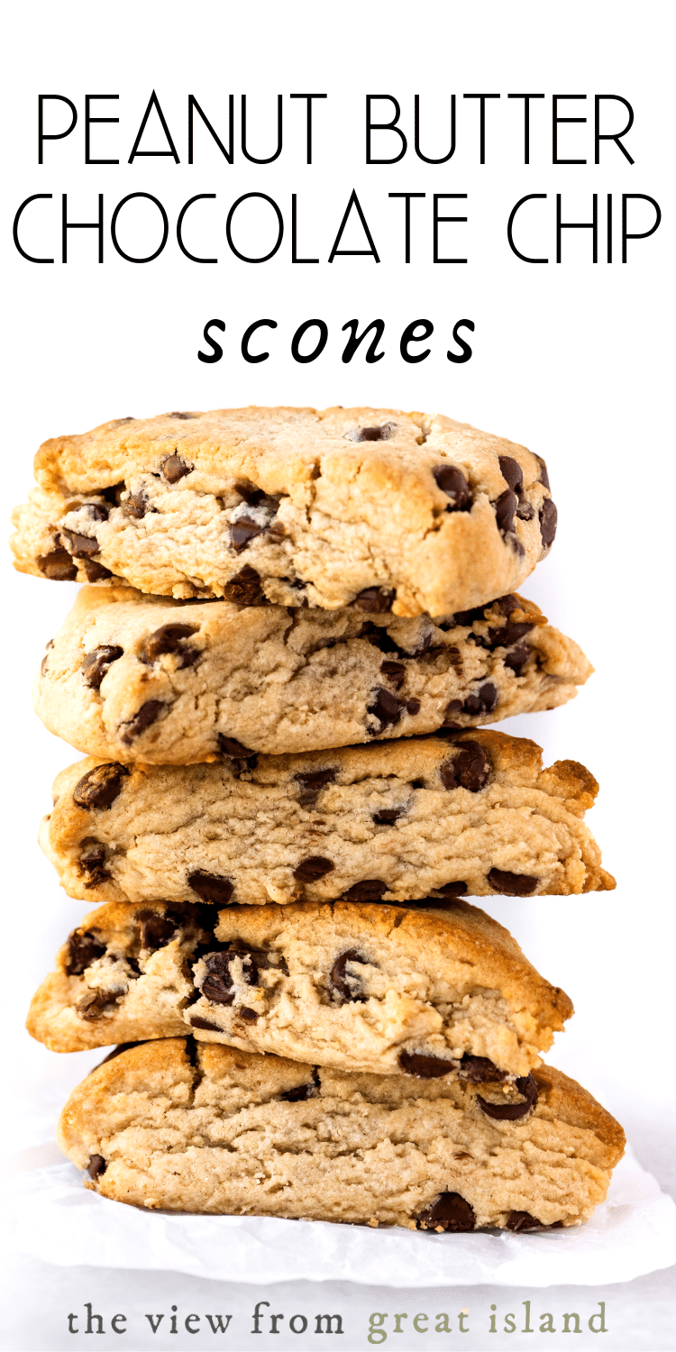 peanut butter chocolate chip scone pin