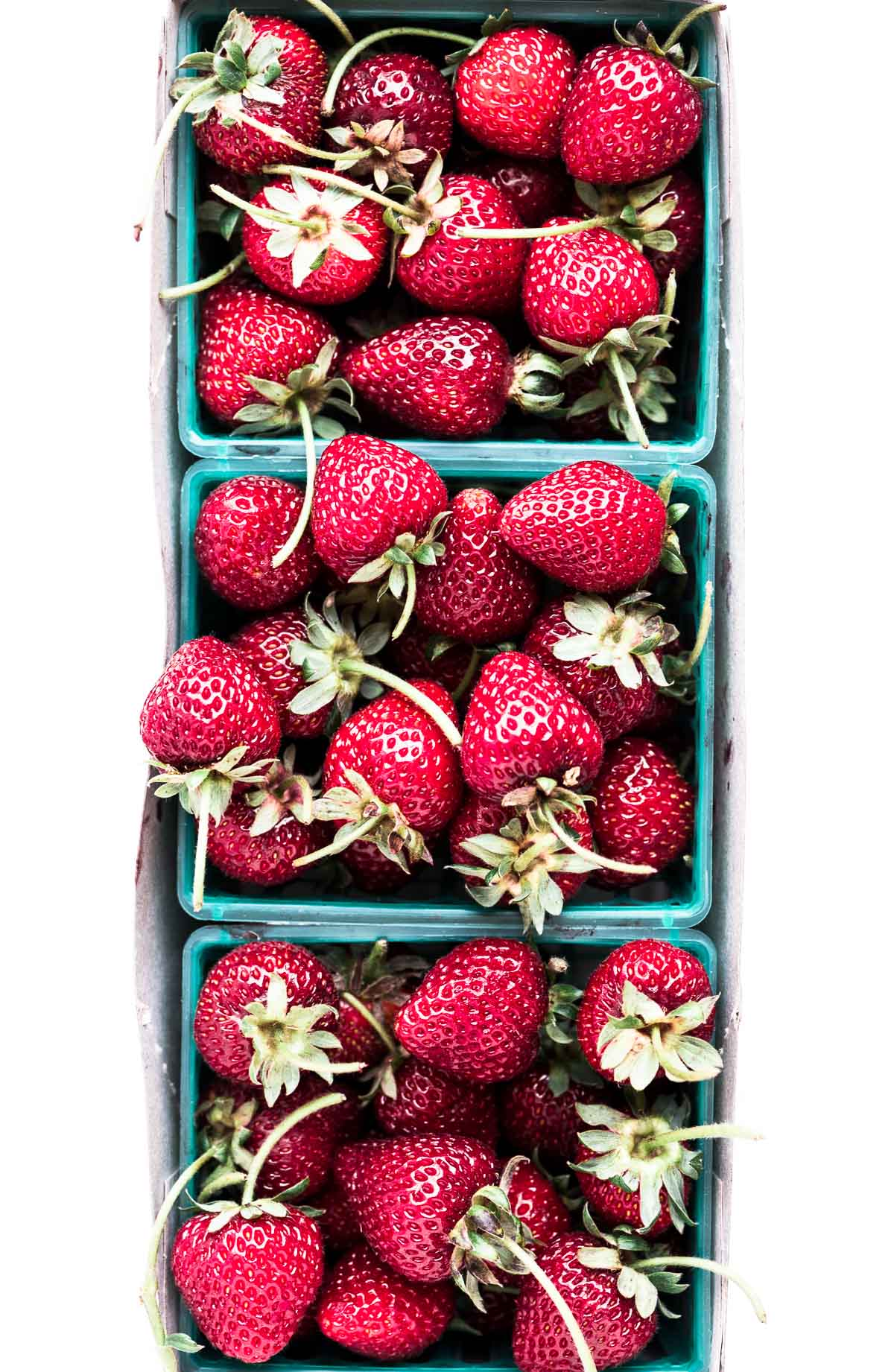 fresh strawberries for a strawberry salad