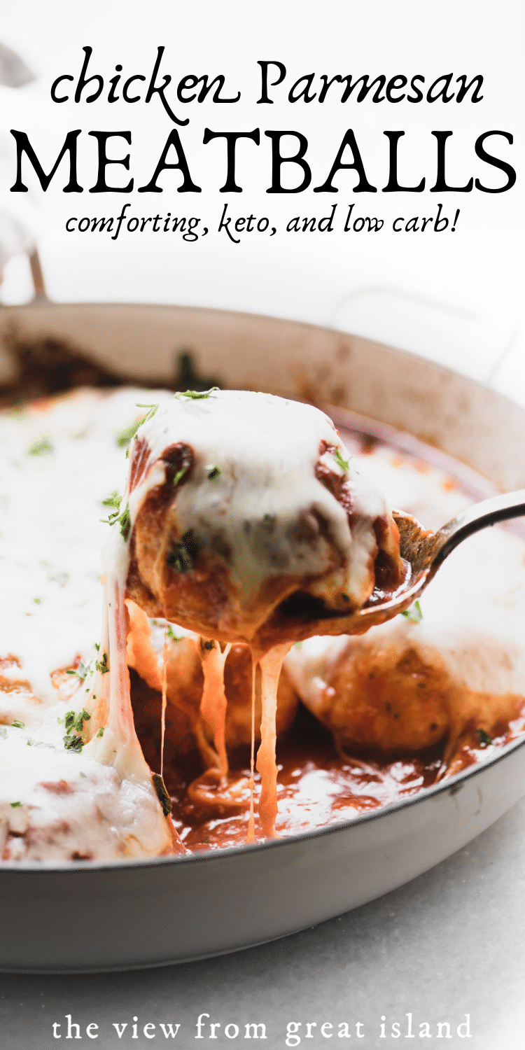 chicken Parmesan meatballs pin