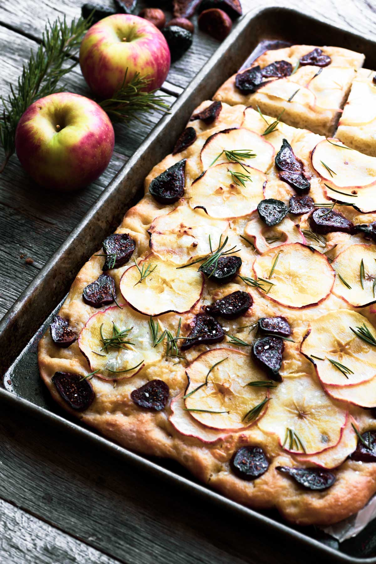 Apple Cheddar and Fig Focaccia