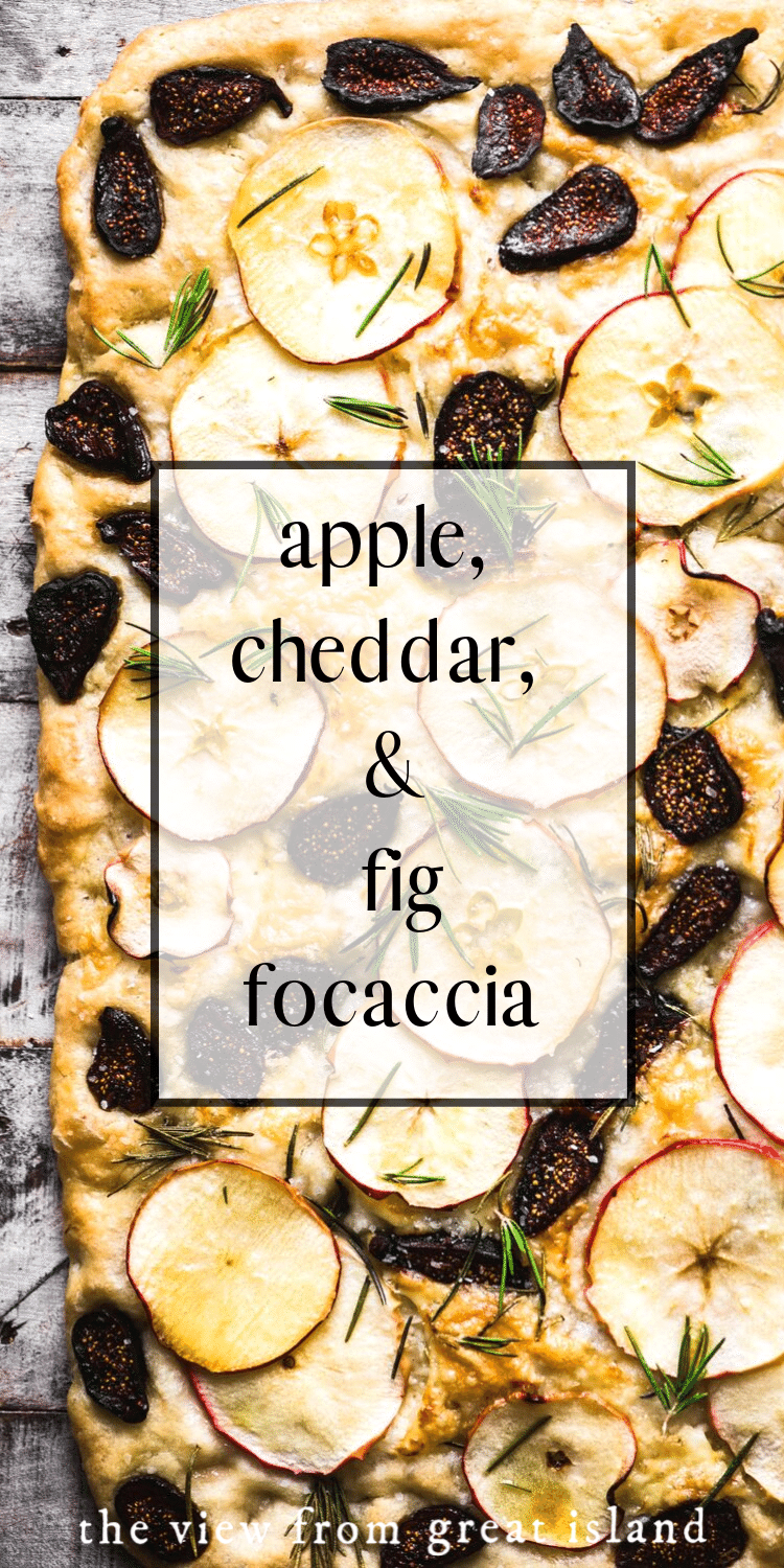 apple cheddar and fig focaccia pin