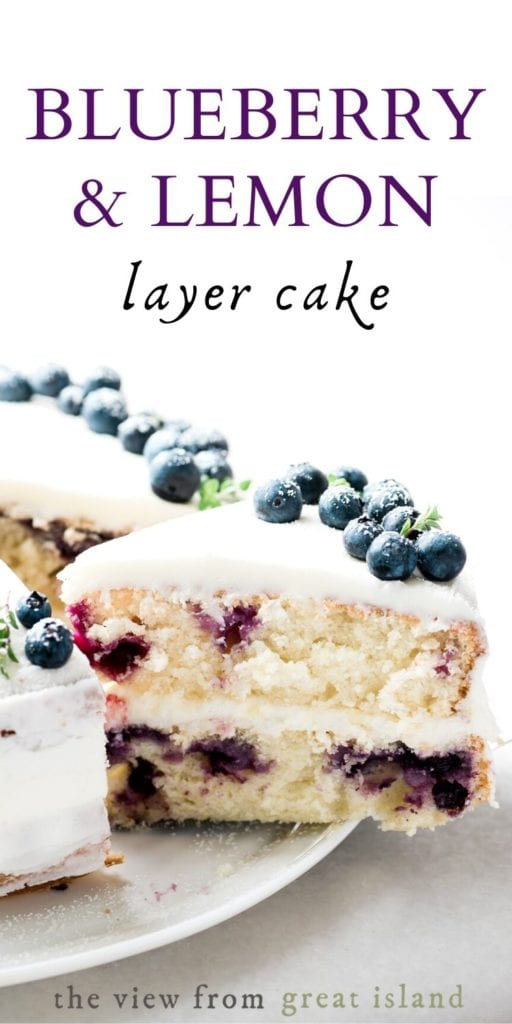 Blueberry lemon cake pin.