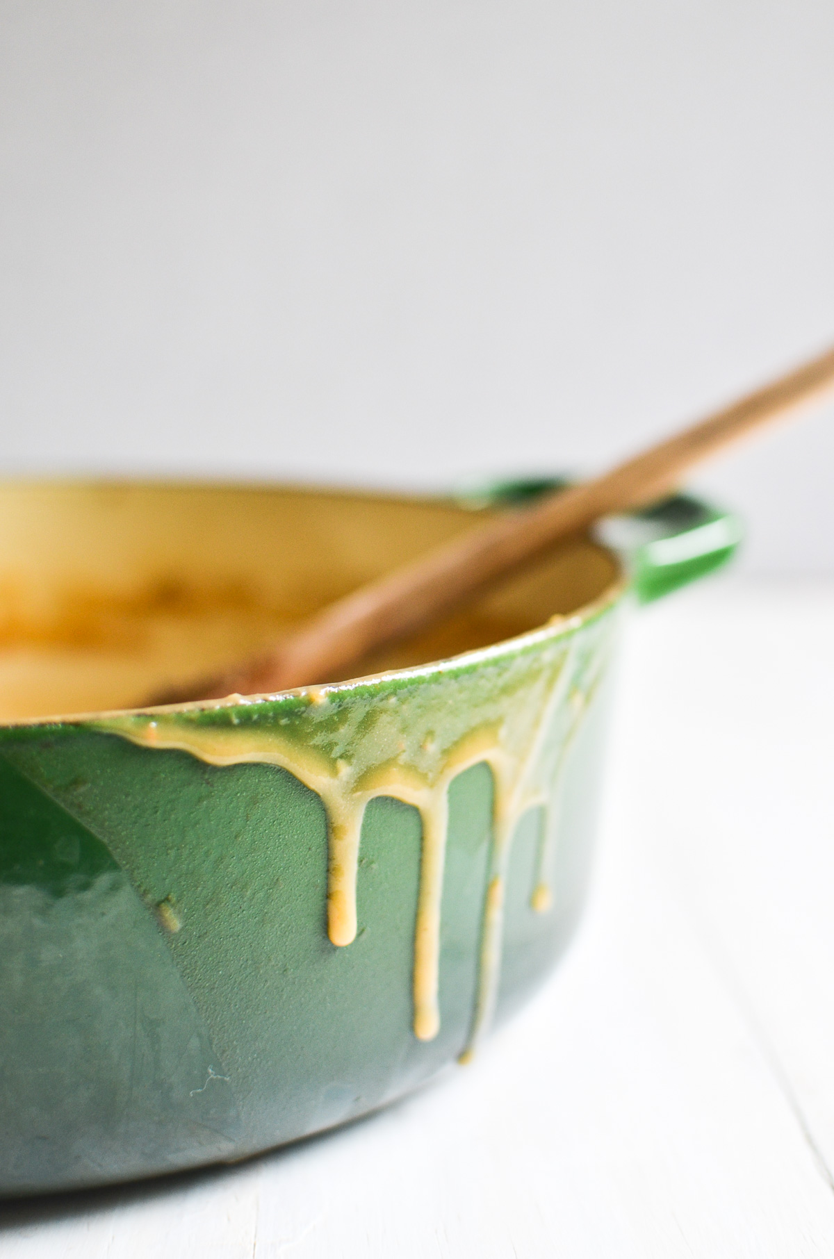 cider and sage no drippings gravy dripping down the sides of pan