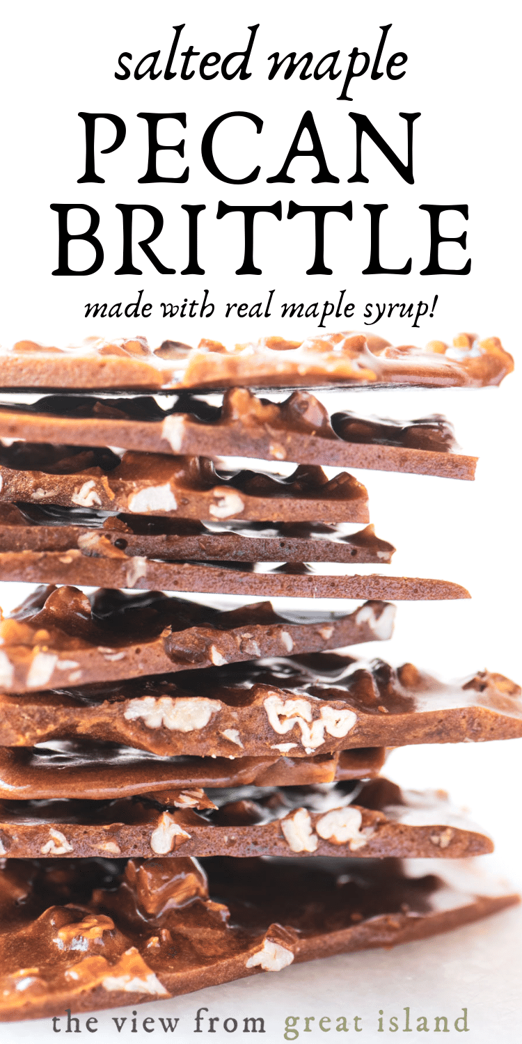 maple pecan brittle pin