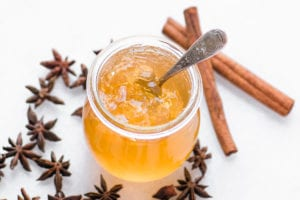 a small jar of mulled cider jelly