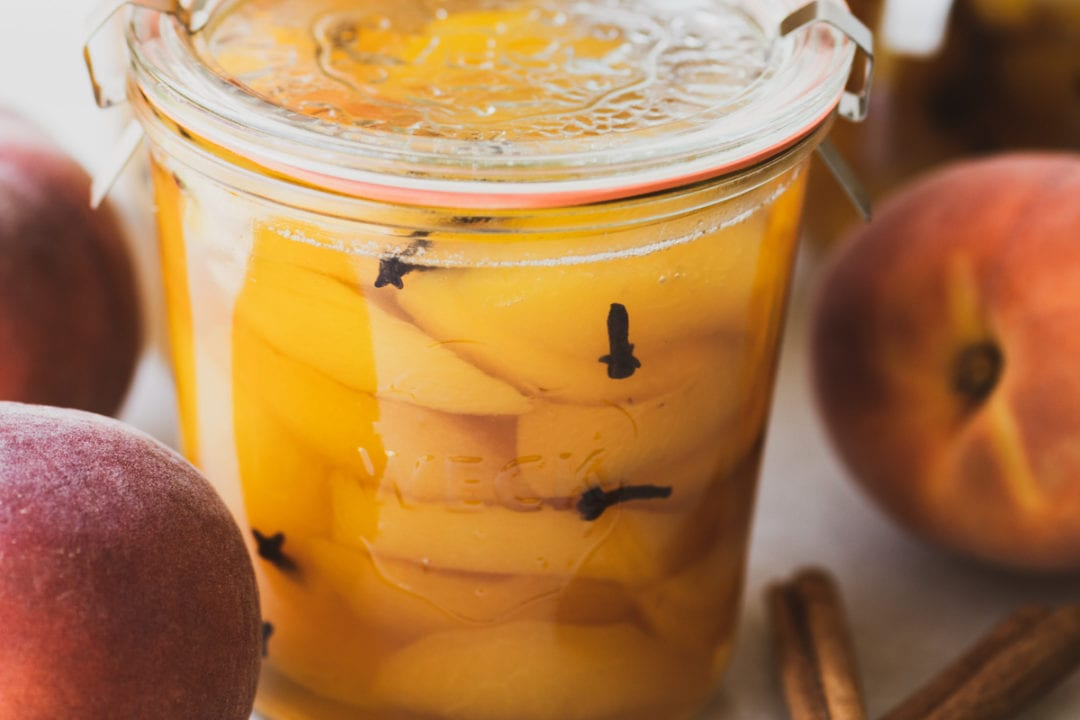 spiced peaches