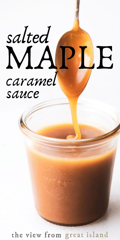 salted maple caramel sauce pin
