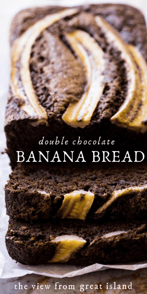 double chocolate banana bread pin