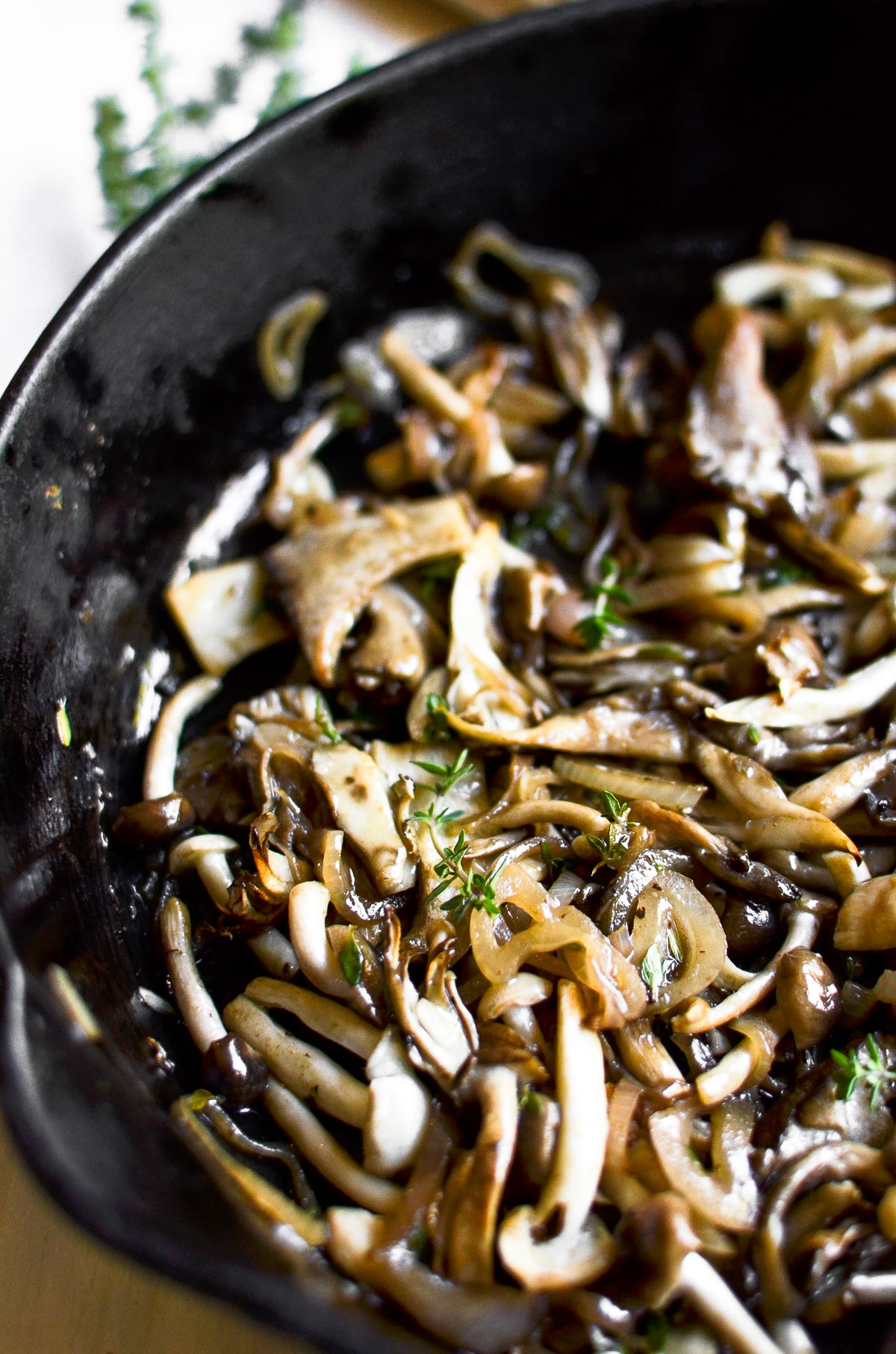 wild mushrooms for baked brie