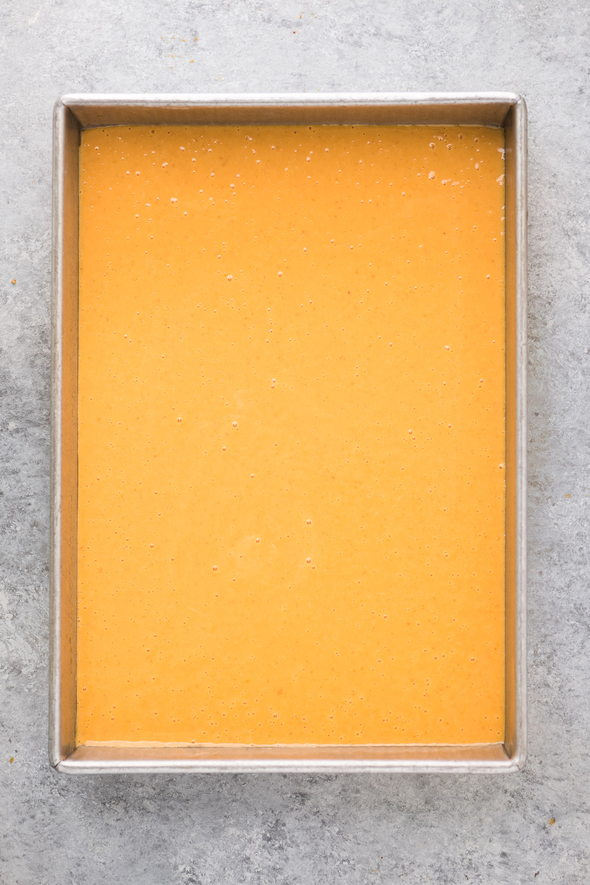 making pumpkin crunch cake step 1