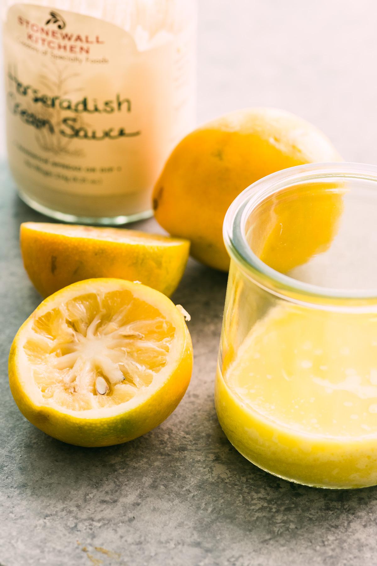 meyer lemon and horseradish dressing