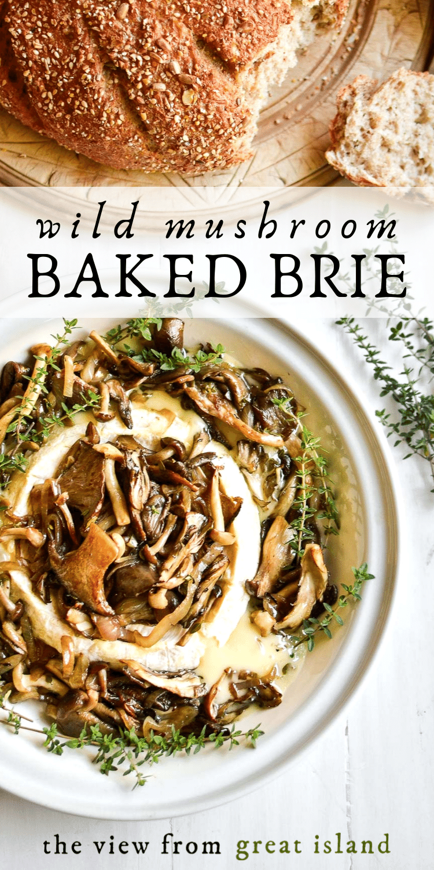 wild mushroom brie pin