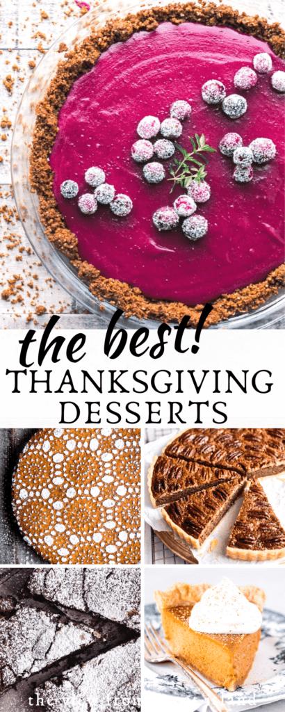 best Thanksgiving desserts pin