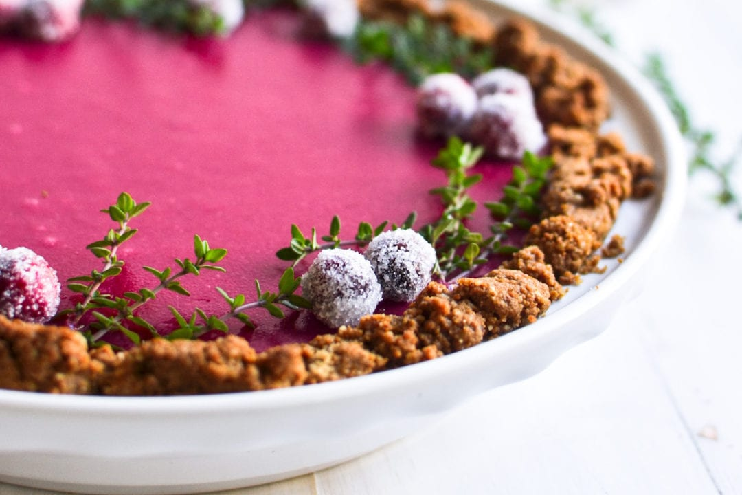 cranberry gingersnap pie