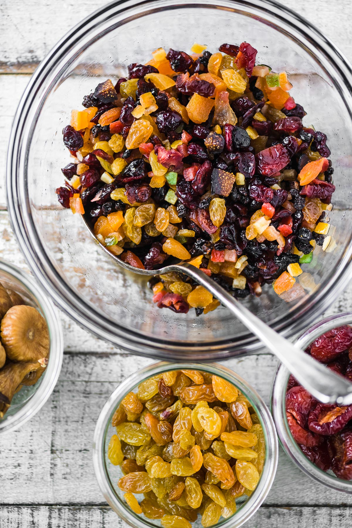 dried fruit for fruit and nut Christmas cake