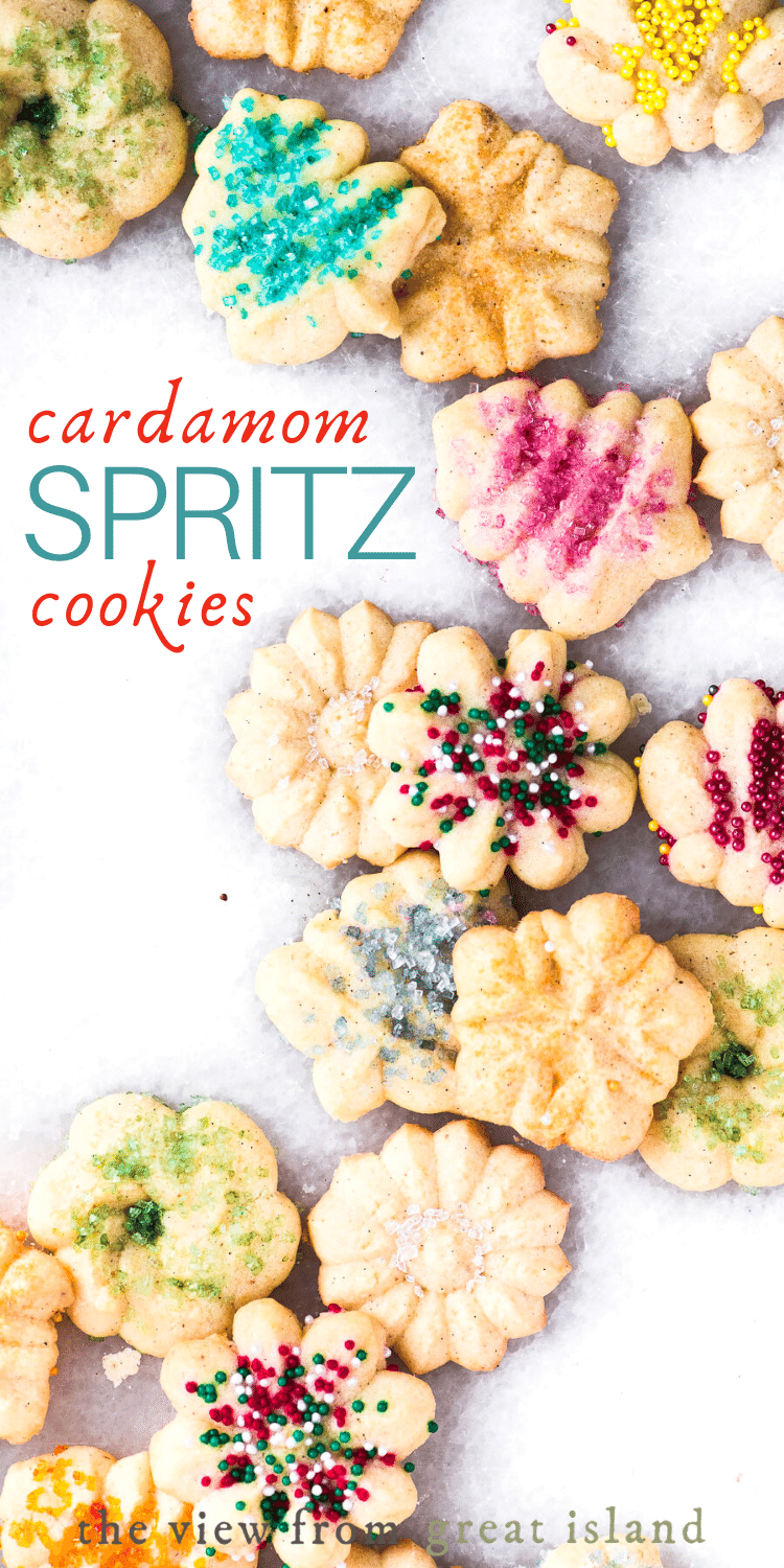 cardamom spritz cookies pin