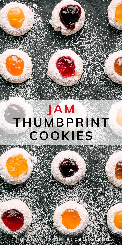 jam thumbprint cookies pin