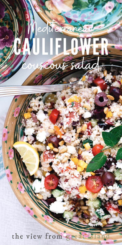cauliflower couscous salad pin