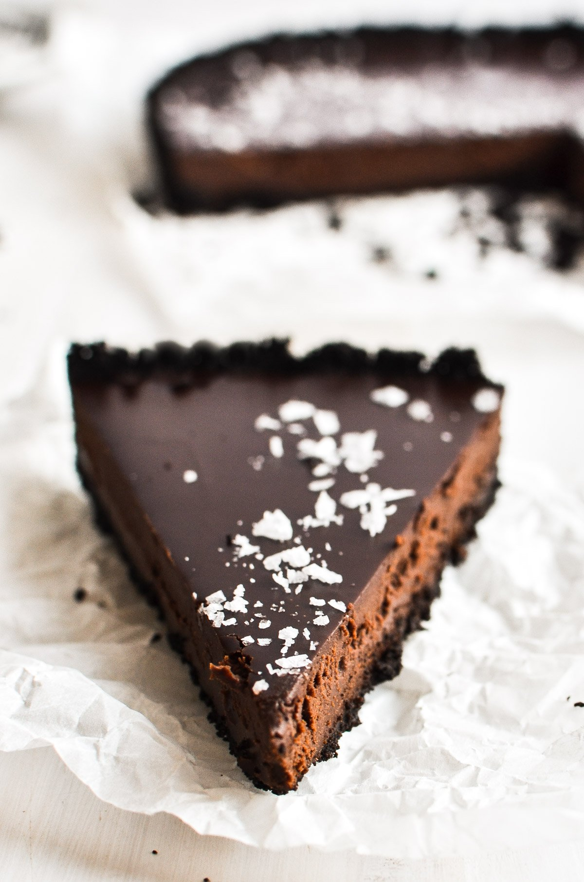 A slice of Dark Chocolate Truffle Tart.