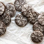 chocolate gingerbread stamped cookies