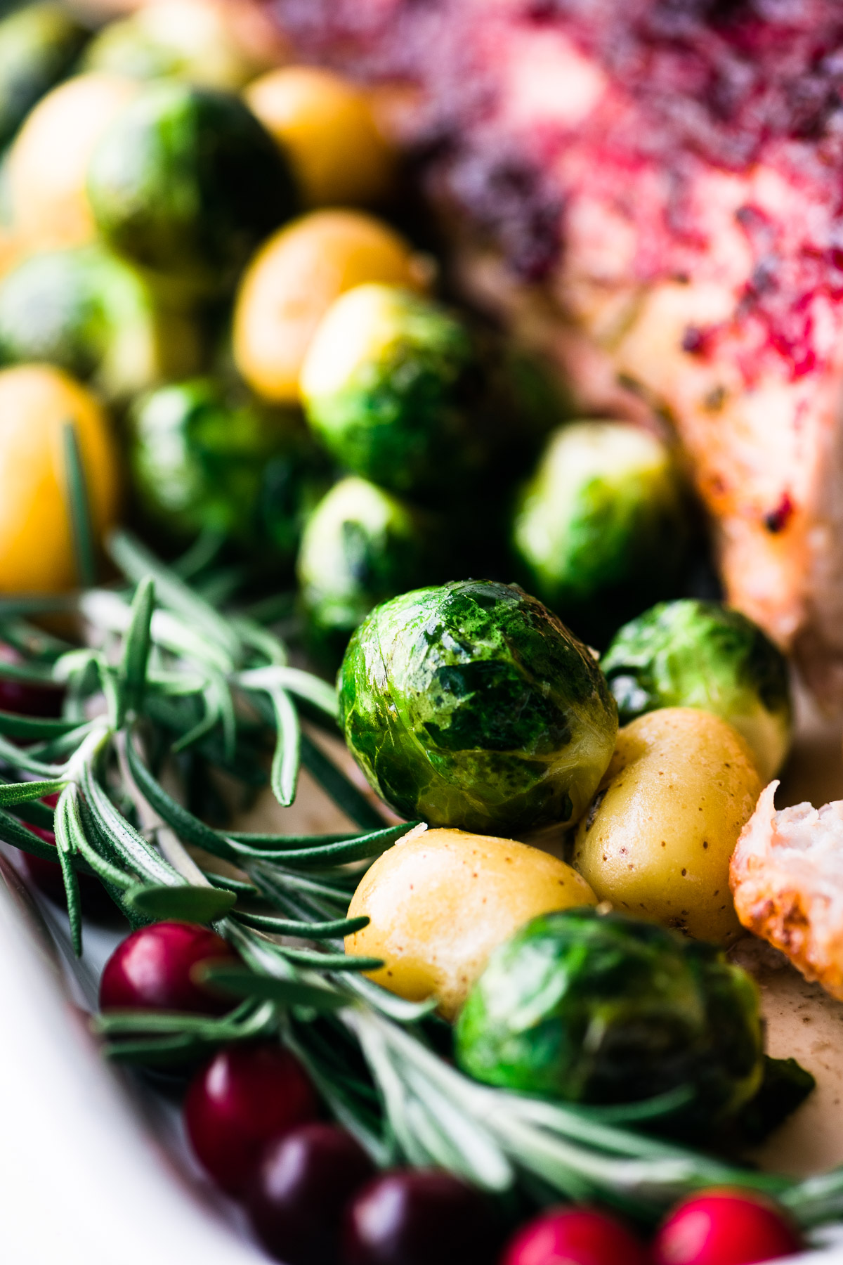 roasted Brussels sprouts and PeeWee potatoes