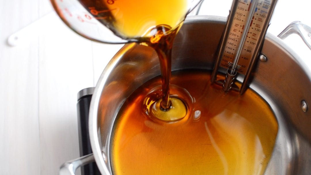 boiling maple syrup for maple marshmallows