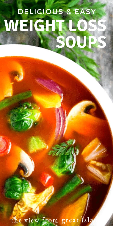 weight loss soup recipes pin
