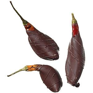 chocolate dipped chiles