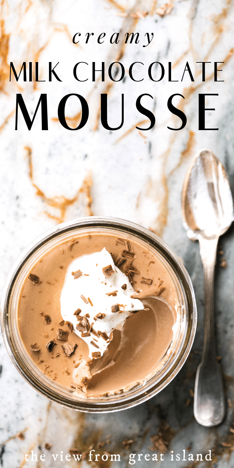 milk chocolate mousse pin