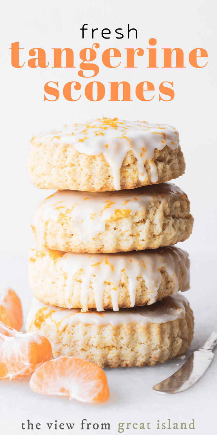 fresh tangerine scones pin