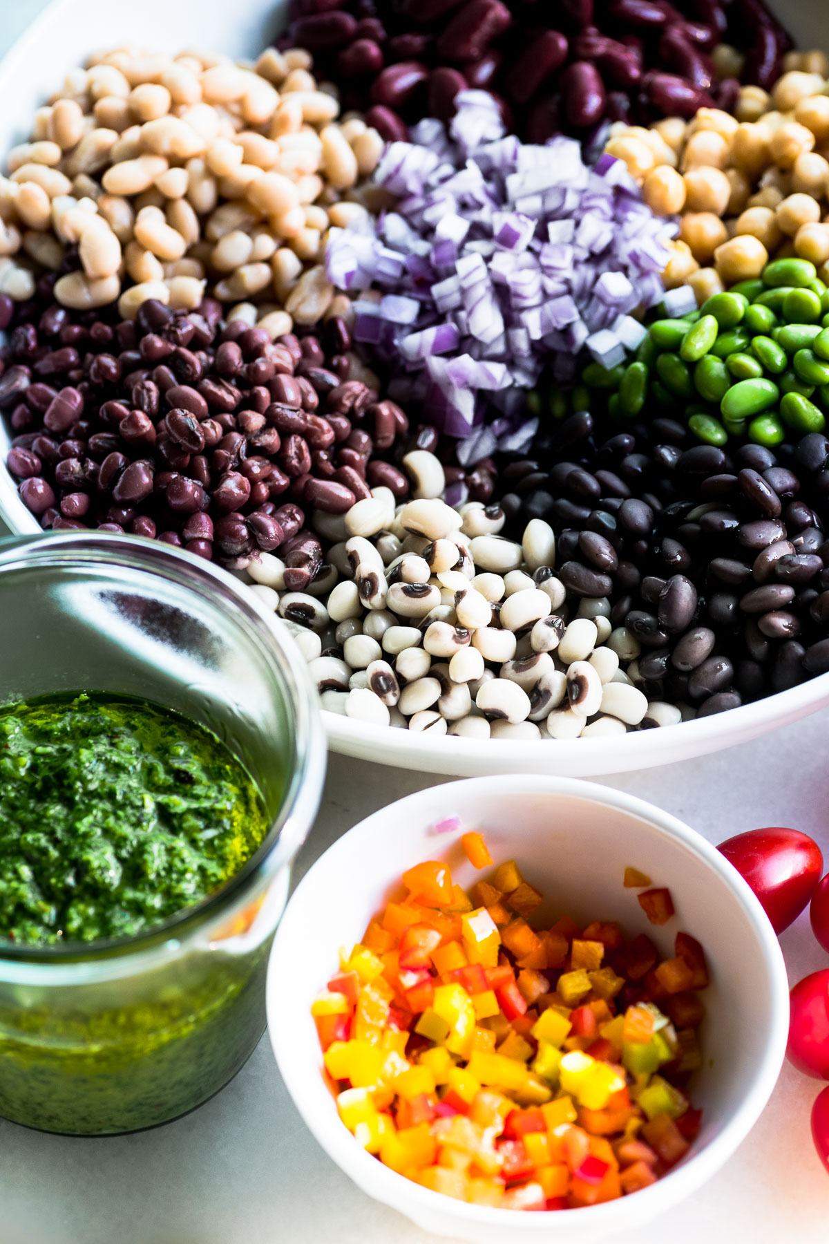 mix of beans for bean salad
