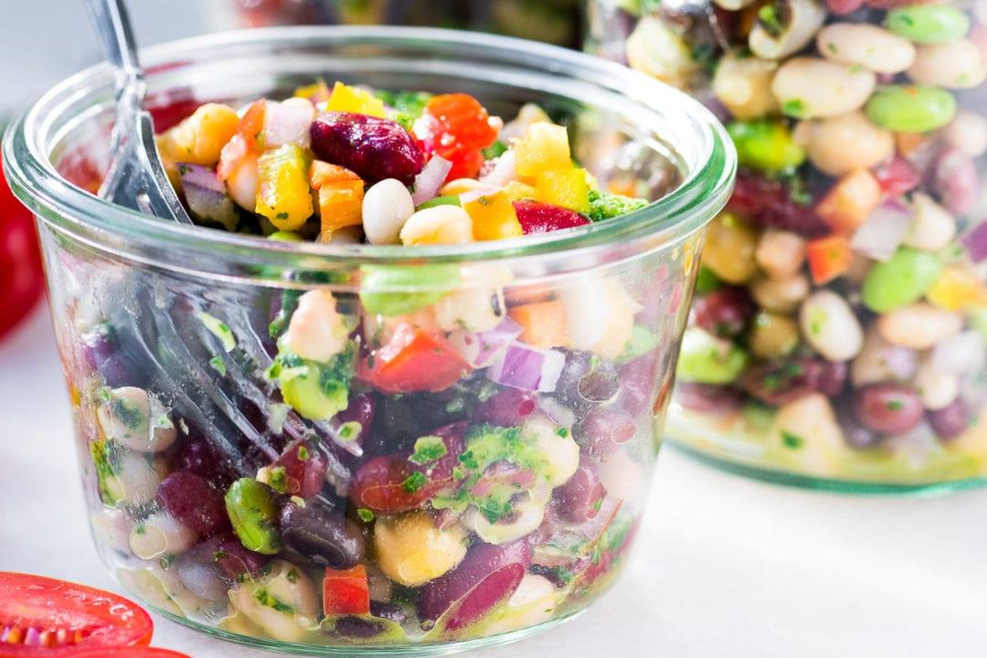 colorful 7 bean salad