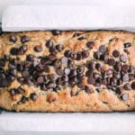 a loaf of peanut butter chocolate chip bread