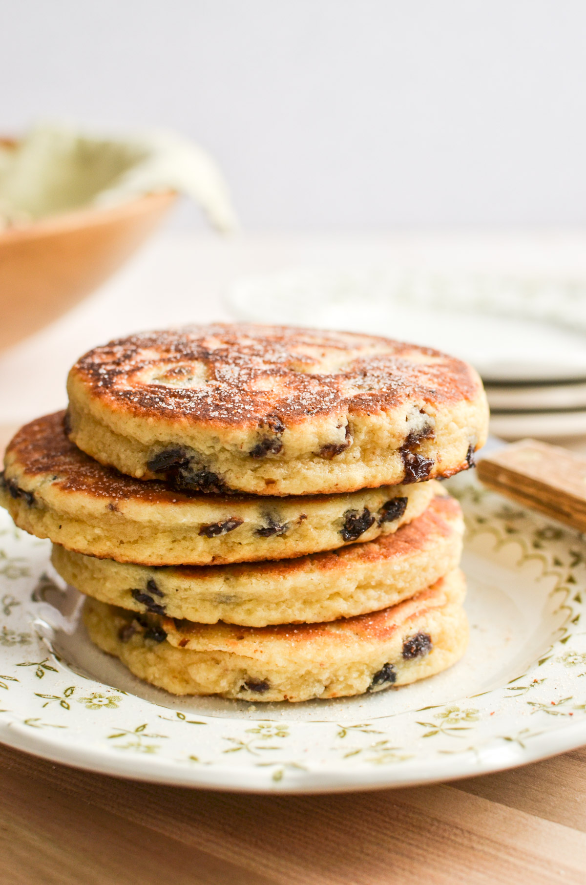 A stack of Welsh cakes.