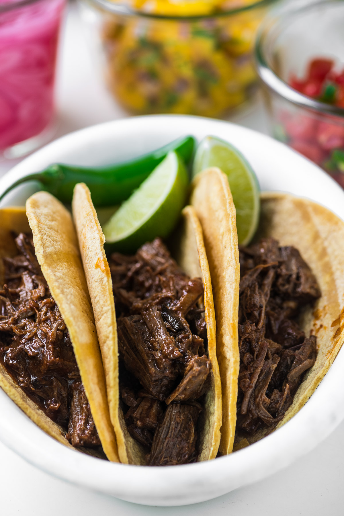 tacos stuffed with barbacoa
