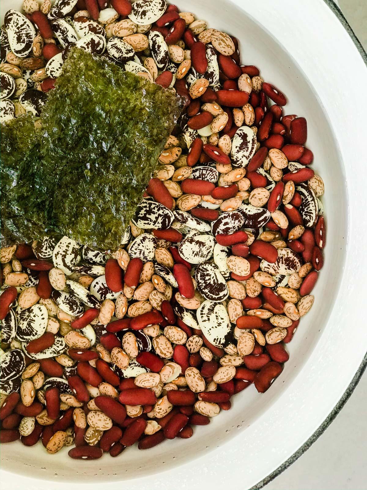soaking beans for baked beans