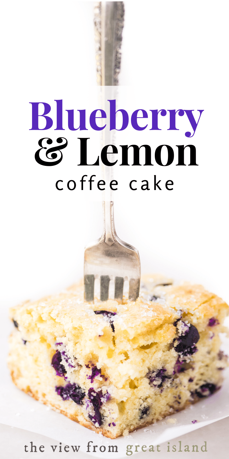 blueberry lemon coffee cake pin