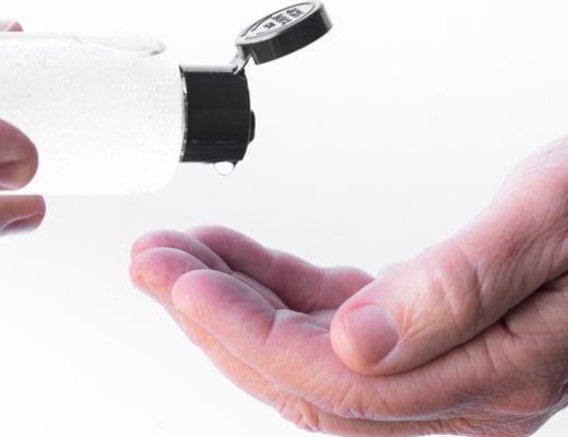 using homemade hand sanitizer
