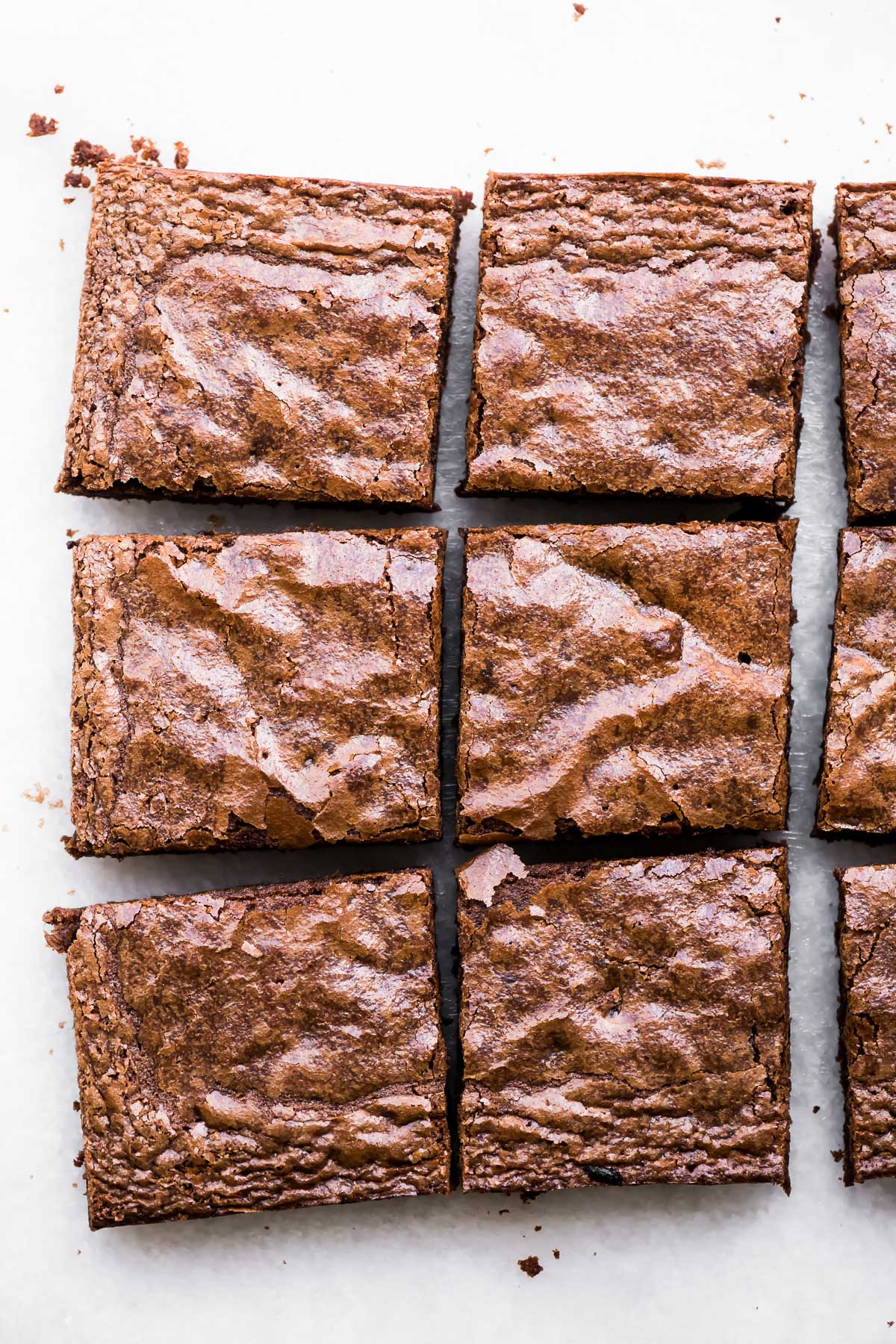 fudgy brownies, sliced into squares