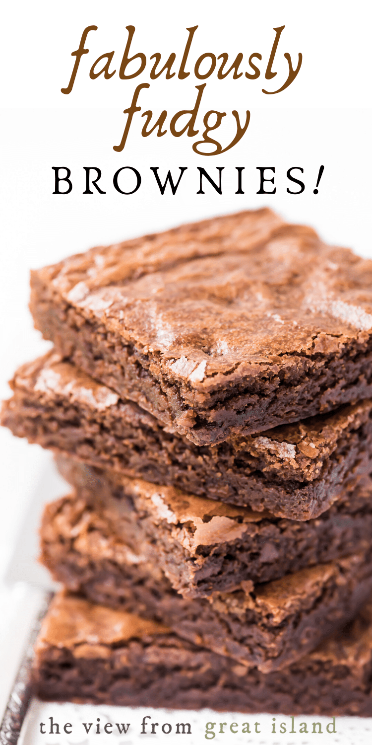 fudgy one bowl brownies pin