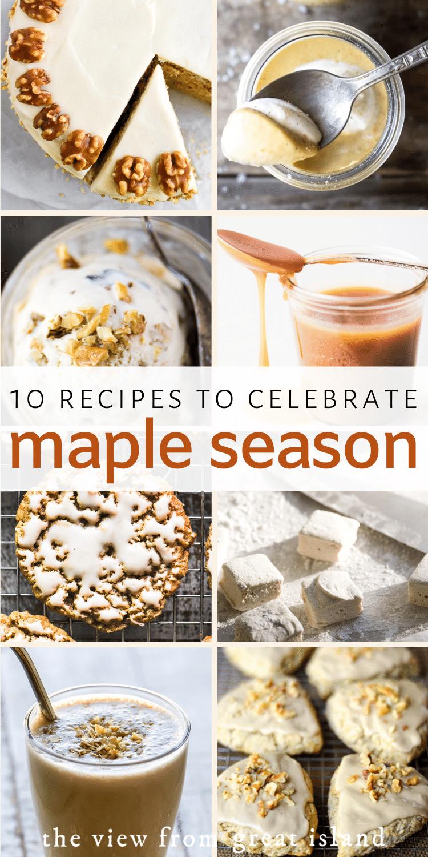 maple recipes pin