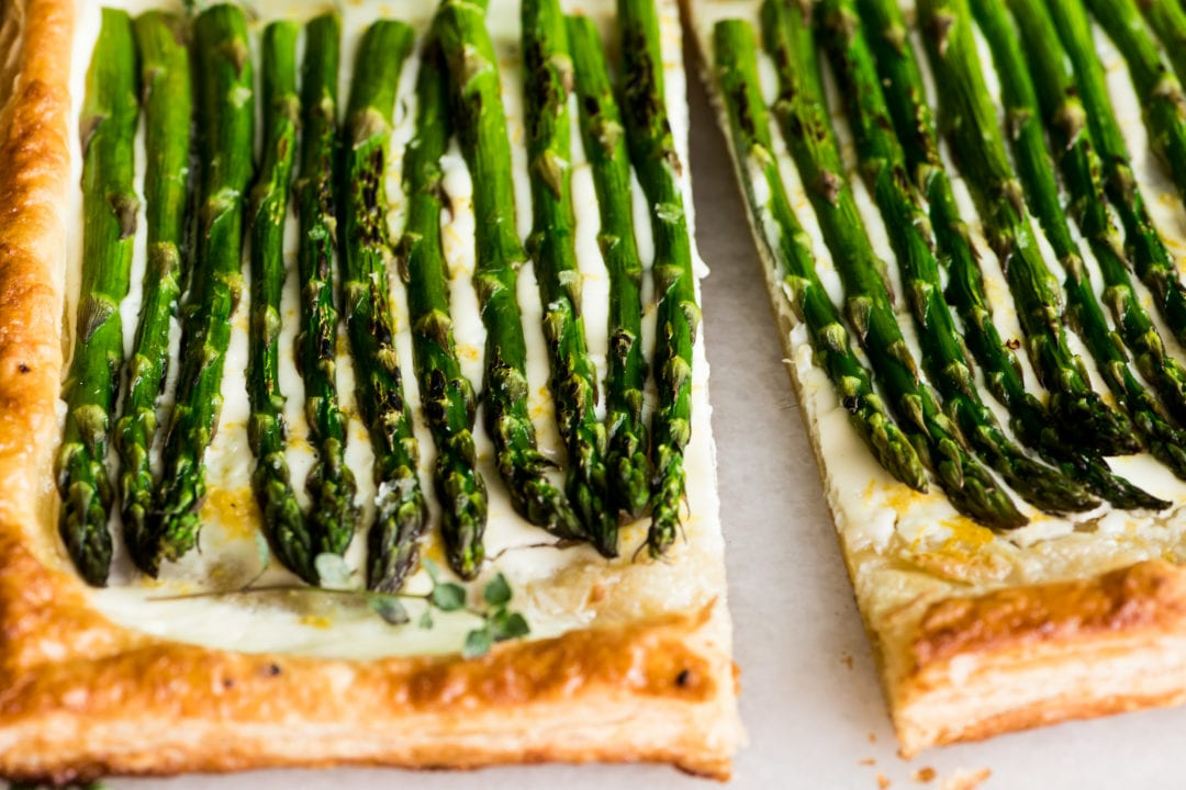 asparagus and creme fraiche tart
