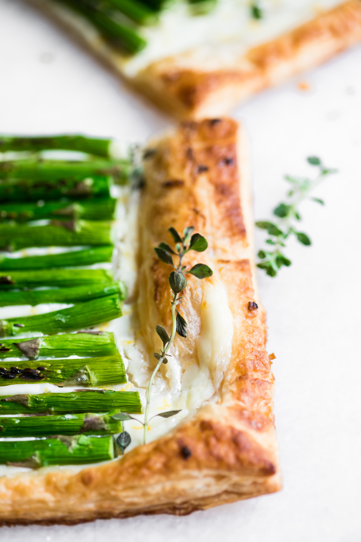 asparagus tart with fresh thyme