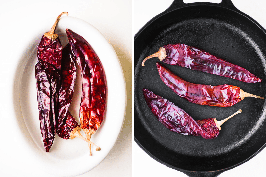 soaking and toasting dried chiles